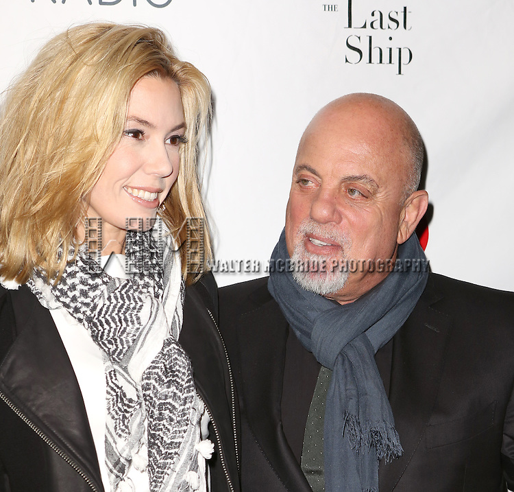 Alexia Roderick and Billy Joel attends the Broadway Opening Night performance of 'The Last Ship' at the Neil Simon Theatre on October 26, 2014 in New York City.