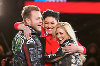 www.acepixs.com<br /> <br /> January 27 2017, Borehamwood<br /> <br /> Presenter Emma Willis (C) with Heidi Montag and Spencer Pratt who are the 8th housemates evicted from the Celebrity Big Brother house at Elstree Studios on January 27, 2017 in Borehamwood, England. <br /> <br /> By Line: Famous/ACE Pictures<br /> <br /> <br /> ACE Pictures Inc<br /> Tel: 6467670430<br /> Email: info@acepixs.com<br /> www.acepixs.com