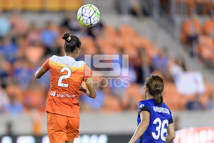 Houston, TX - Sunday Sept. 25, 2016: Poliana Barbosa during a regular season National Women's Soccer League (NWSL) match between the Houston Dash and the Seattle Reign FC at BBVA Compass Stadium.