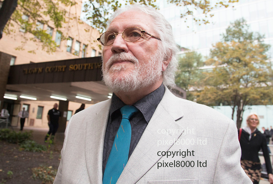 Pic shows: Guilty - leaving court after verdict embattled king of the DJ's Dave Lee Travis <br /> at lunchtime at court today <br /> <br /> <br /> Pic by Gavin Rodgers/Pixel 8000 Ltd