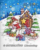 Interlitho-Theresa, CHRISTMAS SANTA, SNOWMAN, WEIHNACHTSMÄNNER, SCHNEEMÄNNER, PAPÁ NOEL, MUÑECOS DE NIEVE, paintings+++++,santa, house,KL6101,#X#