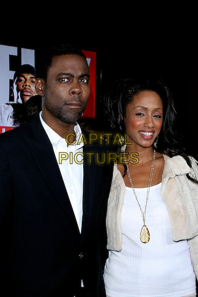 "CHRIS ROCK & MALAAK COMPTON-ROCK.World Premiere of ""The Longest Yard"" held at Grauman's Chinese Theatre..May 19th, 2005.Photo Credit: Jacqui Wong/AdMedia.half length necklace.www.capitalpictures.com.sales@capitalpictures.com.© Capital Pictures."