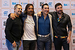 (LtoR) Singers Guillermo Fernandez, Antonio Carmona, Ariel Ardit and Miguel Poveda during the press conference and rehearsal of Festival Unicos. September 24, 2019. (ALTERPHOTOS/Johana Hernandez)