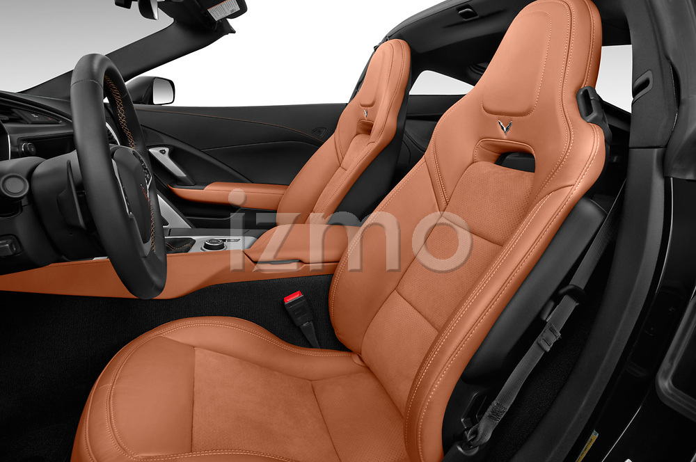 Front seat view of a 2019 Chevrolet Corvette Stingray Coupe 2LT 3 Door Targa front seat car photos