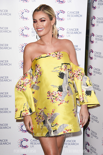 Chloe Sims arriving at James Ingham&rsquo;s Jog On to Cancer, in aid of Cancer Research UK at The Roof Gardens in Kensington, London.  <br /> 12 April  2017<br /> Picture: Steve Vas/Featureflash/SilverHub 0208 004 5359 sales@silverhubmedia.com