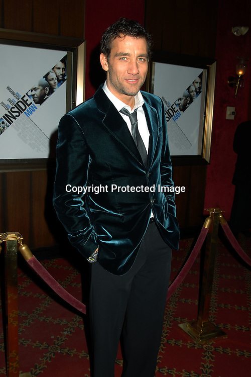 """Clive Owen ..at The World Premiere of """"Inside Man"""" directed by Spike Lee on March 20, 2006 at The Ziegfeld Theatre. ..Robin Platzer, Twin Images"""
