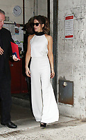 NEW YORK, NY - AUGUST 8: Kate Beckinsale seen at Live with Kelly &amp; Ryan in New York City on August 8, 2017. <br /> CAP/MPI/RW<br /> &copy;RW/MPI/Capital Pictures