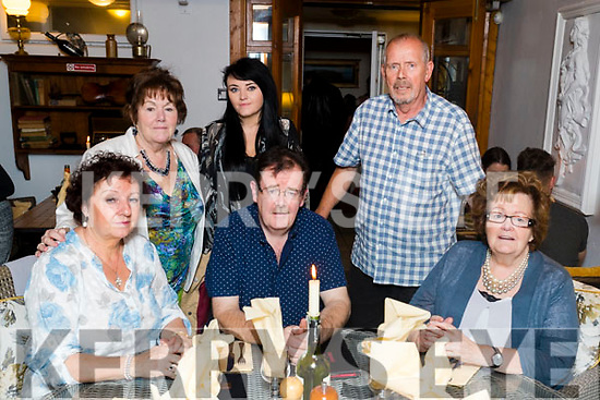Pictured at the Purcell family reunion at Bella Bia on Saturday night last were front l-r: Sheila Purcell, Vincent Purcell and Helen Purcell Brosnan. Back l-r: Angela Minister (née Purcell), Caragh Purcell and Des Minister.
