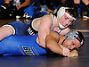 John Arceri of Huntington, top, looks to control Bryan Romero of North Babylon at 126 pounds in the opening round of the Suffolk County varsity wrestling championship at North Babylon High School on Wednesday, Jan. 27, 2016. Arceri won by major decision 13-4 as 13th seeded Huntington upset fourth seeded North Babylon 34-33.
