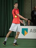 Rotterdam, Netherlands, Januari 28, 2017, ABNAMROWTT, Supermatch, Noah ten Veer<br /> Photo: Tennisimages/Henk Koster