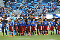 San Jose, CA - Saturday August 05, 2017: San Jose Earthquakes  prior to a Major League Soccer (MLS) match between the San Jose Earthquakes and the Columbus Crew at Avaya Stadium.