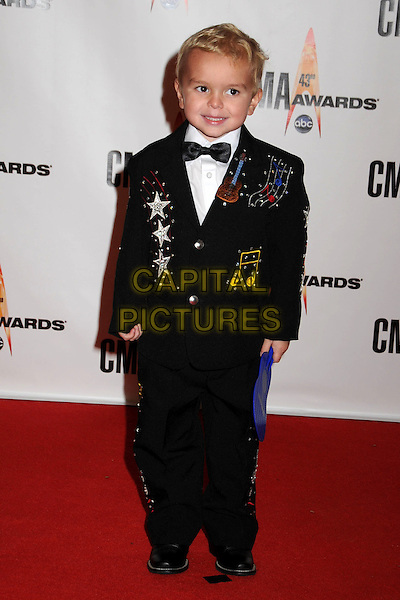 DRAKE DIXON.43rd Annual CMA Awards, Country Music's Biggest Night, held at the Sommet Center, Nashville, Tennessee, USA..November 11th, 2009.full length black suit tuxedo embroidered .CAP/ADM/LF.©Laura Farr/AdMedia/Capital Pictures.