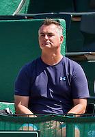 "09-07-13, Netherlands, Scheveningen,  Mets, Tennis, Sport1 Open, day two, Jesse Huta Galung ""s coach Stefan Ehritt-Vanc<br /> <br /> <br /> Photo: Henk Koster"