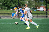 Boston, MA - Saturday June 24, 2017: Morgan Andrews and McCall Zerboni during a regular season National Women's Soccer League (NWSL) match between the Boston Breakers and the North Carolina Courage at Jordan Field.