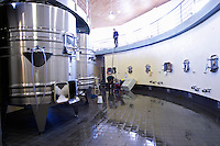 pumping over vat room chateau la dauphine fronsac bordeaux france