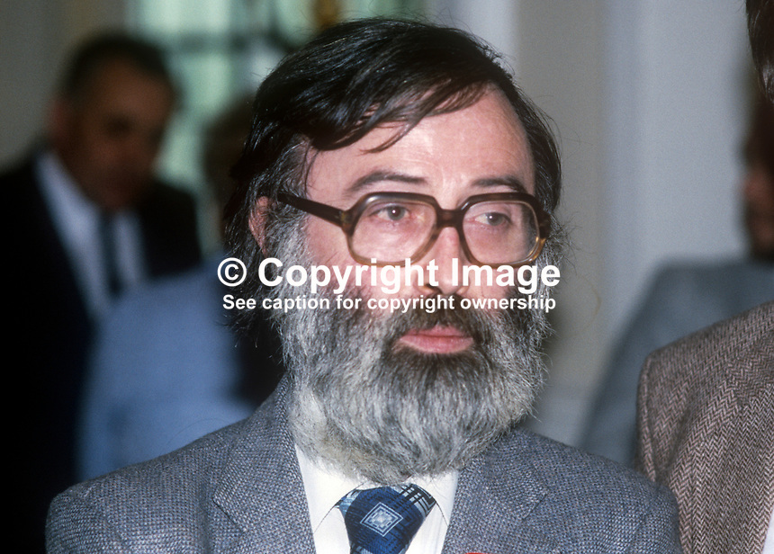 Des O&rsquo;Hagan, Belfast, N Ireland, prominent member, Workers&rsquo; Party. 198200000159B<br /><br />Copyright Image from Victor Patterson, 54 Dorchester Park, <br />Belfast, UK, BT9 6RJ<br /><br />t1: +44 28 9066 1296 (from Rep of Ireland 048 9066 1296)<br />t2: +44 28 9002 2446 (from Rep of Ireland 048 9002 2446)<br />m: +44 7802 353836<br /><br />victorpatterson@me.com<br />www.victorpatterson.com<br /><br />Please see my Terms and Conditions of Use at VICTORPATTERSON.COM. It is IMPORTANT that you familiarise yourself with them.<br /><br />Images used on the Internet must be visibly watermarked i.e. &copy;VICTORPATTERSON.COM within the body of the image and copyright metadata must not be deleted. Images used on the Internet have a size restriction of 4kbs and are chargeable at the then current NUJ rates.<br /><br />This image is only available for the use of the download recipient i.e. television station, newspaper, magazine, book publisher, etc, and must not be passed on to any third party. It is also downloaded on condition that each and every usage is notified within 7 days to victorpatterson@me.com<br /><br />The right of Victor Patterson to be identified as the author is asserted in accordance with The Copyright Designs And Patents Act (1988).
