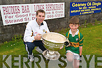 Daire Kennelly the Sam Maguire Cup at Annascaul .