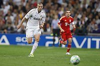 25.04.2012 SPAIN -  UEFA Champions League Semi-Final 2nd leg  match played between Real Madrid CF vs  FC Bayern Munchen 2 (1) - 1 (3) at Santiago Bernabeu stadium. The picture show Karim Benzema (French Forward of Real Madrid)
