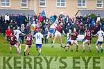 Mid field saw many a great battle in the South Kerry Senior Football championship on Saturday pictured here St Marys Bryan Sheehan & na Piarsaigh's Aidan Shine Ó Súilleabháin in action.
