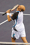 SHANGHAI, CHINA - OCTOBER 18:  Nikolay Davydenko of Russia celebrates match point to Rafael Nadal of Spain during final match on day eight of 2009 Shanghai ATP Masters 1000 at Qi Zhong Tennis Centre on October 18, 2009 in Shanghai China.  Photo by Victor Fraile / The Power of Sport Images