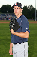 July 23 2008:  Pitcher Anthony Shawler of the Oneonta Tigers, Class-A affiliate of the Detroit Tigers, during a game at Dwyer Stadium in Batavia, NY.  Photo by:  Mike Janes/Four Seam Images