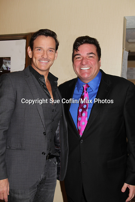 Guiding Light's Sean McDermott poses with Dale Badway host and singer - The 29th Annual Jane Elissa Extravaganza which benefits The Jane Elissa Charitable Fund for Leukemia & Lymphoma Cancer, Broadway Cares and other charities on November 14, 2016 at the New York Marriott Hotel, New York City presented by Bridgehampton National Bank and Walgreens.  The event is a Cabaret with singer Sean McDermott (Guiding Light) (Photo by Sue Coflin/Max Photos)
