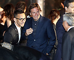 April 19, 2017, Tokyo, Japan - Japan's former football star Hidetoshi Nakata (L) smiles with Fendi CEO Pietro Beccari (C) as they enjoy Dior's 2017 spring-summer haute couture collection at the rooftop of the Ginza Six in Tokyo on Wednesday, April 19, 2017. Tokyo's new landmark Ginza Six will open on April 20 where Dior will have its flagship store.     (Photo by Yoshio Tsunoda/AFLO) LwX -ytd-