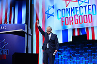 Washington, DC - March 25, 2019: U.S. Senator Chuck Schumer, Senate Democratic Leader, enters the stage to address attendees of the 2019 AIPAC Policy Conference held at the Washington Convention Center, March 25, 2019.  (Photo by Don Baxter/Media Images International)