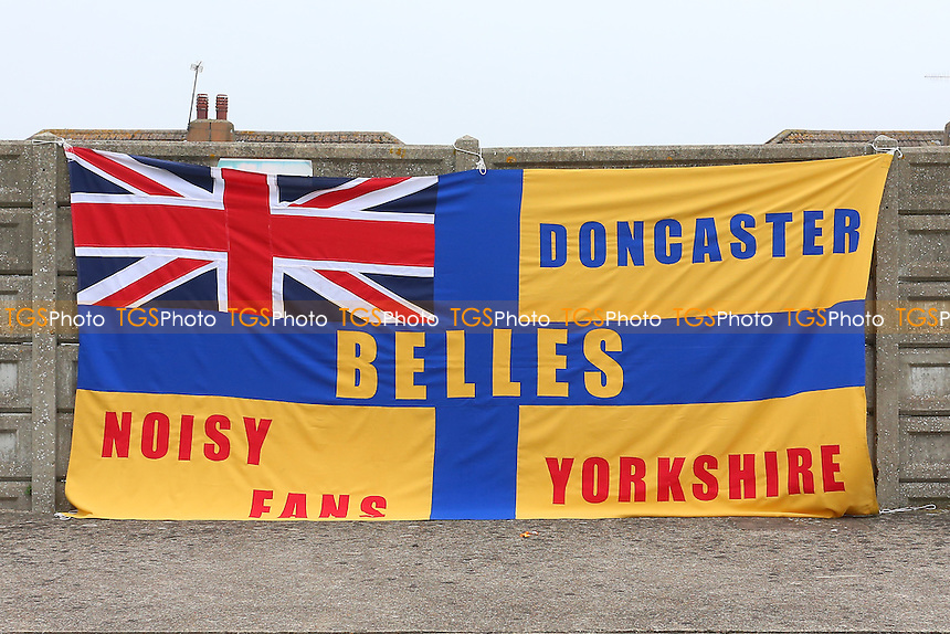 A Doncaster Belles flag during Arsenal Ladies vs Doncaster Rovers Belles, FA Women's Super League FA WSL1 Football at Meadow Park, Boreham Wood FC on 30th October 2016