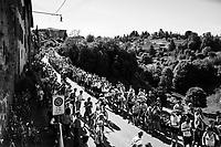Eros Capecchi (ITA/Quick-Step Floors) up the steepest section towards the Citt&agrave; Alta in Bergamo<br /> <br /> Stage 15: Valdengo &rsaquo; Bergamo (199km)<br /> 100th Giro d'Italia 2017