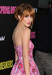 HOLLYWOOD, CA - MARCH 14: Bella Thorne attends the 'Spring Breakers' Los Angeles Premiere at ArcLight Hollywood on March 14, 2013 in Hollywood, California.