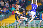 Johnny Buckley of Dr Crokes and Michael Hawes of Cratloe in the AIB Munster Senior Football Final played last Sunday in The Gaelic Grounds, Limerick.