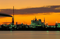 Petroleum industry ; oil ; refining; petrochemical ; plant ; water ; ship channel. Houston Texas.