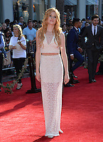 LOS ANGELES, CA. April 4, 2016. Actress Katherine McNamara at the world premiere of &quot;The Jungle Book&quot; at the El Capitan Theatre, Hollywood.<br /> Picture: Paul Smith / Featureflash