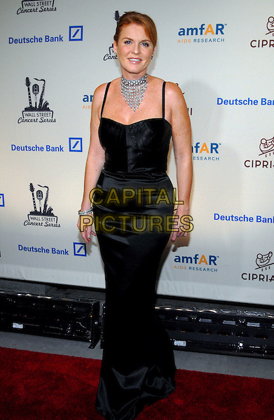 SARAH FERGUSON.2006 Cipriani/Deutsche Bank Concert Series benefiting amfAR at Cipriani Wall Street,  New York, NY, USA, .22 June 2006..full length black dress duchess of york fergie choker necklace.Ref: ADM/PH.www.capitalpictures.com.sales@capitalpictures.com.©Paul Hawthorne/AdMedia/Capital Pictures. *** Local Caption ***
