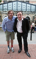 ***NO FEE PIC ***<br /> 12/06/2014<br /> (L to R)  Peter Coonan (Fran from Love/Hate, What Richard Did, Quirke) and Gary Lydon (Calvary, The Guard, War Horse) at the Gaiety Theatre, South King Street, Dublin to mark the annoucnement that Brendan Behan's Borstal Boy returns to Dublin's Gaiety Theatre from 11 September for a strictly limited engagement. The critically acclaimed and commemorative play marks the 50th anniversary of the death of Brendan Behan (20th March 1964). Tickets go on sale Friday 20 June.<br /> Photo:  Gareth Chaney Collins