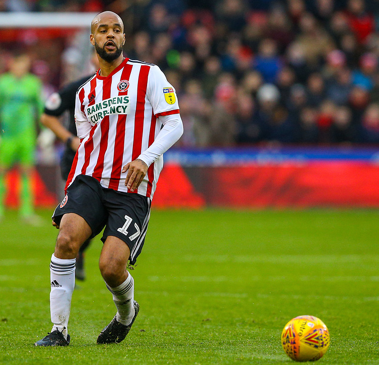 Sheffield United's David McGoldrick<br /> <br /> Photographer Alex Dodd/CameraSport<br /> <br /> The EFL Sky Bet Championship - Sheffield United v Leeds United - Saturday 1st December 2018 - Bramall Lane - Sheffield<br /> <br /> World Copyright © 2018 CameraSport. All rights reserved. 43 Linden Ave. Countesthorpe. Leicester. England. LE8 5PG - Tel: +44 (0) 116 277 4147 - admin@camerasport.com - www.camerasport.com