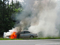 Car Fire Toyota Camry By Jonathan Green