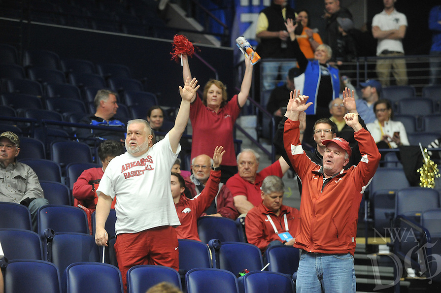 NWA Democrat-Gazette/MICHAEL WOODS &bull; @NWAMICHAELW<br /> University of Arkansas Razorbacks during their 68-61 loss to Florida Thursday, March 10, 2016 at SEC Basketball tournament at Bridgestone Arena in Nashville.