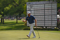 Louis Oosthuizen (RSA) sinks his birdie putt on 18 during round 4 of the Fort Worth Invitational, The Colonial, at Fort Worth, Texas, USA. 5/27/2018.<br /> Picture: Golffile | Ken Murray<br /> <br /> All photo usage must carry mandatory copyright credit (© Golffile | Ken Murray)