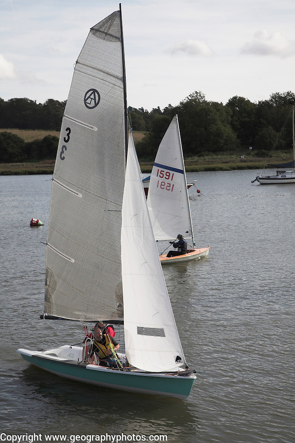 Sailing boats, River Deben, Woodbridge, Suffolk, England