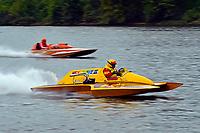 "Harry Holst, E-160 ""Heatwave"" (1960's Whiteman 280 class cabover hydroplane), Jay Marshall, E-102 ""Tijuana Taxi"" (1966 Hallet 280 class hydroplane)"