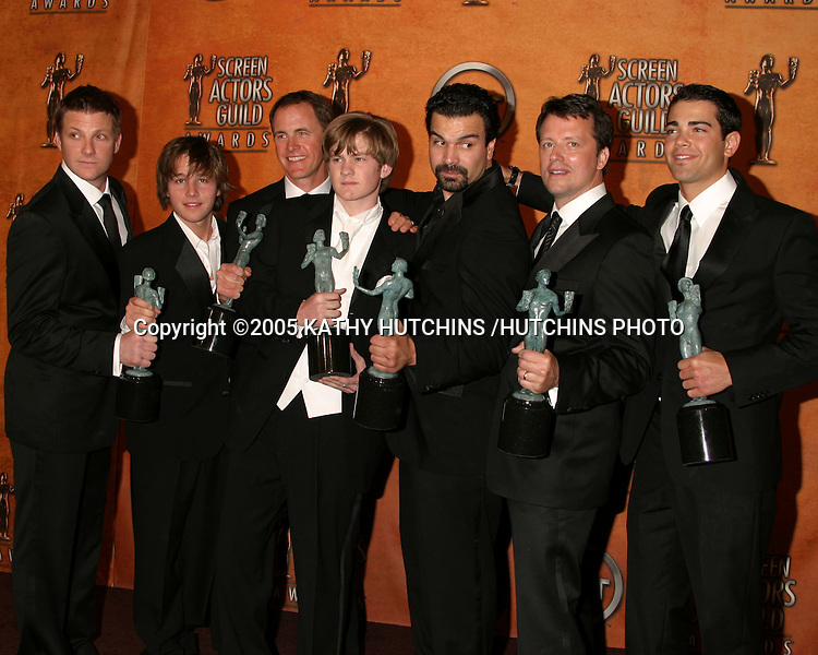 ©2005 KATHY HUTCHINS /HUTCHINS PHOTO.11TH SCREEN ACTOR'S GUILD AWARDS.SHRINE AUDITORIUM.LOS ANGELES, CA.FEBRUARY 5, 2005..DESPERATE HOUSEWIVES MEN
