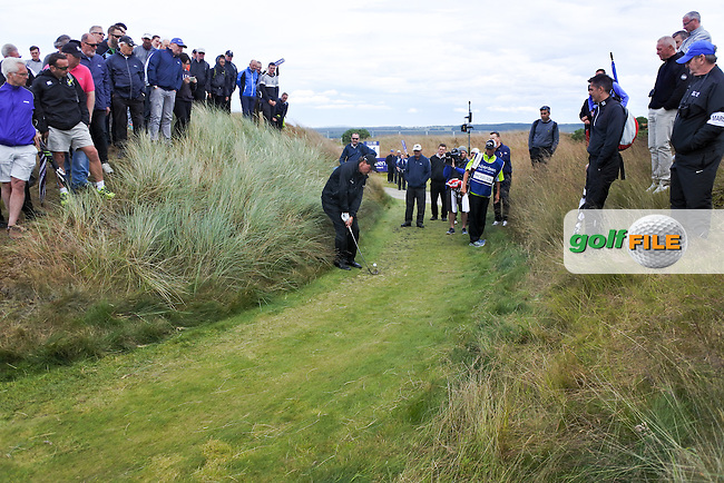 Phil Mickelson (USA) during the first round of the Aberdeen Asset Management Scottish Open 2016, Castle Stuart  Golf links, Inverness, Scotland. 07/07/2016.<br /> Picture Fran Caffrey / Golffile.ie<br /> <br /> All photo usage must carry mandatory copyright credit (&copy; Golffile | Fran Caffrey)