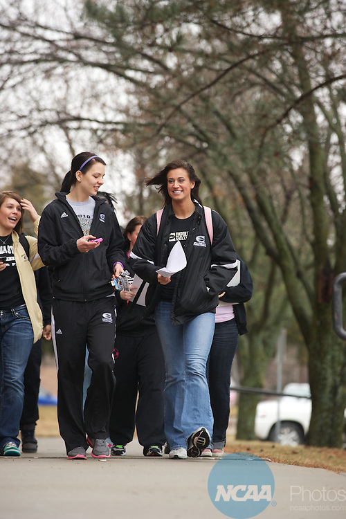08 MAR 2011: Campus life photos taken at Emporia State University in Emporia, KS. Stephen Nowland/NCAA Photos