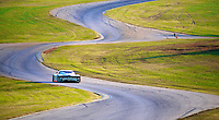 A lone Daytona Prototype races through the esses during the Grand-Am Rolex Series test at Virginia International Raceway, Alton, VA , October 2010. (Photo by Brian Cleary/www.bcpix.com)