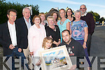 Arty clan of Kerry: Some of the artists whose work features in the exhibition at the Thatched Cottage in Finuge as part of the Sean McCarthy Weekend Festival, which was launched on Thursday night with the opening of the exhibition. Pictured are Jane Hilliard and Liam Brennan (front). Back l-r Michael Flaherty, Jimmy Deenihan, Diane Lavery, Michelle ODonnell, Kate Kennelly, Trish Healy, Rita Thompson, Olive Stack and Mr and Mrs Bob Scott...