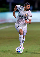 13th July 2020, Orlando, Florida, USA;  Los Angeles Galaxy midfielder Sebastian Lletget (17) looks to pass the ball during the MLS Is Back Tournament between the LA Galaxy versus Portland Timbers on July 13, 2020 at the ESPN Wide World of Sports, Orlando FL.