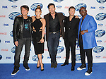 Keith Urban, Jennifer Lopez, Harry Connick Jr. Ryan Seacrest and Randy Jackson arriving at the 'American Idol XIII Finalists Party' held at Fig and Olive in Los Angeles on February 20, 2014