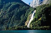 Bowen Falls, Milford Sound, Fiordland, South Island, New Zealand.